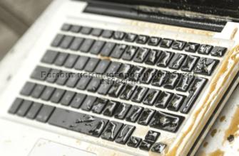 Ремонт залитой клавиатуры ноутбука фото